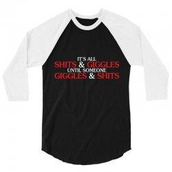 giggles shits 3/4 Sleeve Shirt | Artistshot