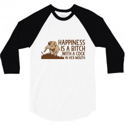 happiness mouth 3/4 Sleeve Shirt | Artistshot