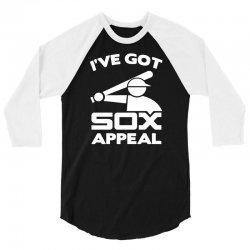 chicago white sox t shirt vintage logo sox appeal 3/4 Sleeve Shirt | Artistshot