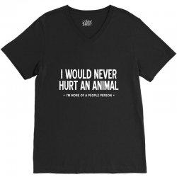 hurt animal V-Neck Tee | Artistshot