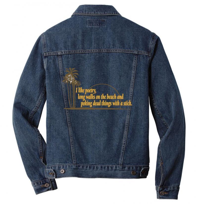 I Like Poetry Men Denim Jacket   Artistshot