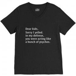 kids defense V-Neck Tee   Artistshot