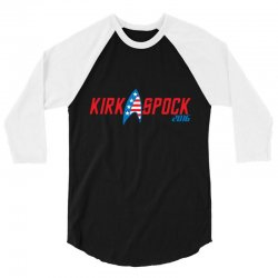 kirk spock 2016 3/4 Sleeve Shirt   Artistshot