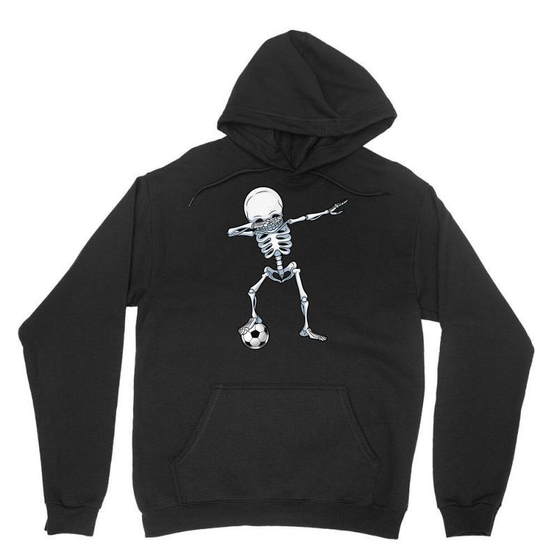 Dabbing Skeleton Soccer Halloween Skull Unisex Hoodie   Artistshot