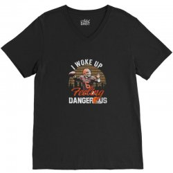 Dangerous football feeling football V-Neck Tee | Artistshot