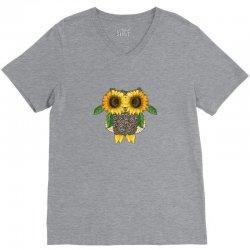 owl sunflower V-Neck Tee | Artistshot