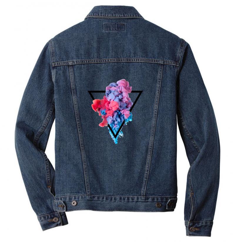 Splash Watercolor Blots A Men Denim Jacket | Artistshot