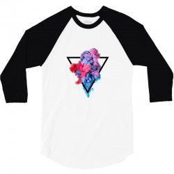 splash watercolor blots a 3/4 Sleeve Shirt | Artistshot