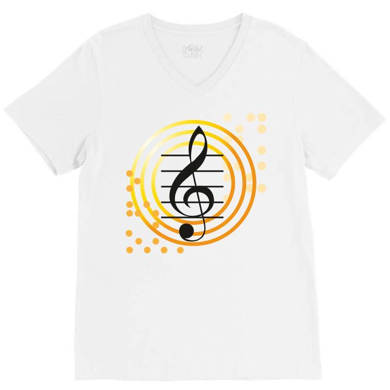 Music V-neck Tee | Artistshot