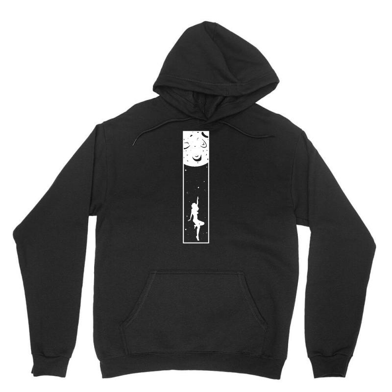 Fly Me To The Moon   Girl Unisex Hoodie | Artistshot
