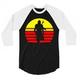 mando retro 3/4 Sleeve Shirt   Artistshot