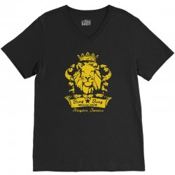reggae lion bar V-Neck Tee   Artistshot