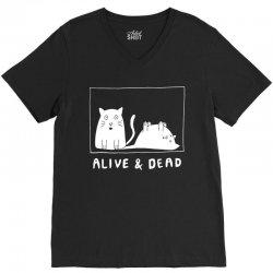 schrodinger's cat alive and dead t shirt V-Neck Tee | Artistshot