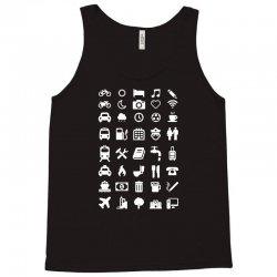 shirt with emoticons for travelers Tank Top | Artistshot