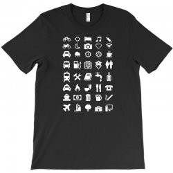 shirt with emoticons for travelers T-Shirt | Artistshot