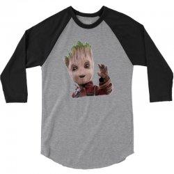 baby groot3 3/4 Sleeve Shirt   Artistshot