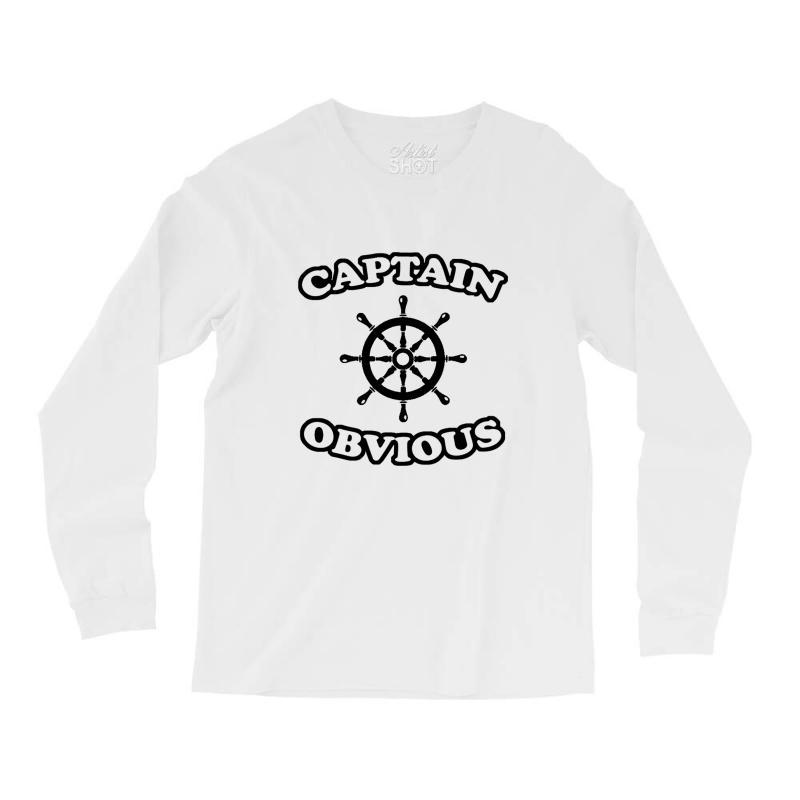 Captain Obvious Long Sleeve Shirts | Artistshot