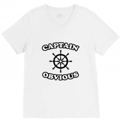 captain obvious V-Neck Tee | Artistshot