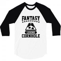 fantsy cornhole legend 3/4 Sleeve Shirt | Artistshot