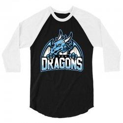 ice dragons 3/4 Sleeve Shirt   Artistshot