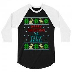 merry christmas   ugly 3/4 Sleeve Shirt | Artistshot