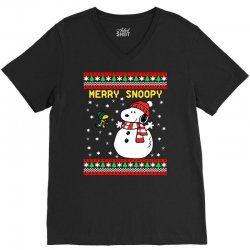 merry snoopy snowman christmas V-Neck Tee | Artistshot