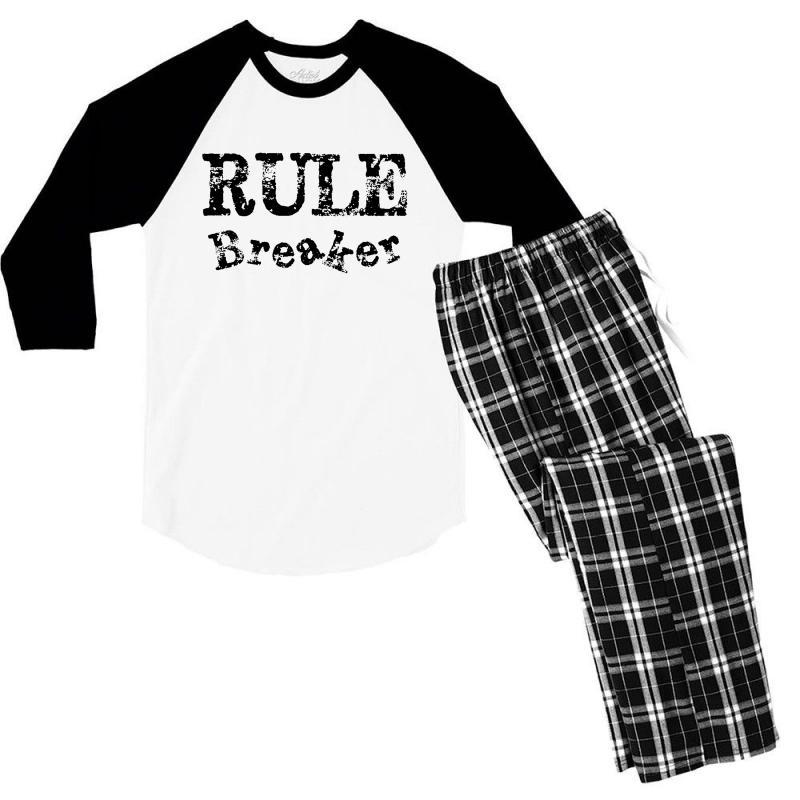 Rule Breaker Men's 3/4 Sleeve Pajama Set   Artistshot