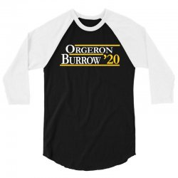 orgeron and burrow in 2020 for dark 3/4 Sleeve Shirt | Artistshot
