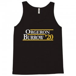 orgeron and burrow in 2020 for dark Tank Top | Artistshot