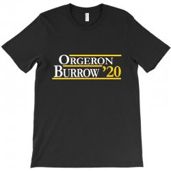 orgeron and burrow in 2020 for dark T-Shirt | Artistshot