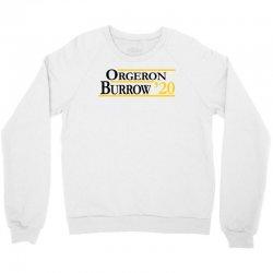 orgeron and burrow in 2020 for light Crewneck Sweatshirt | Artistshot
