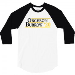 orgeron and burrow in 2020 for light 3/4 Sleeve Shirt | Artistshot