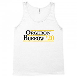 orgeron and burrow in 2020 for light Tank Top | Artistshot