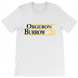 orgeron and burrow in 2020 for light T-Shirt | Artistshot