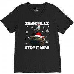 seagulls stop it now V-Neck Tee   Artistshot