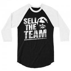 sell the team lions grunge 3/4 Sleeve Shirt | Artistshot