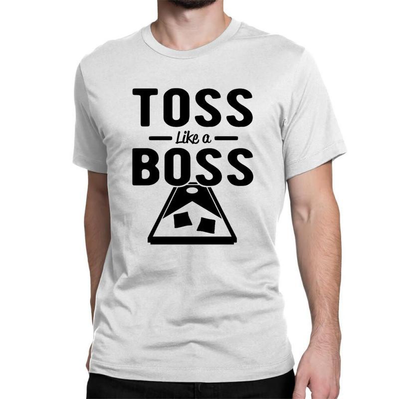 Toss Like A Boss Cornhole Classic T-shirt | Artistshot
