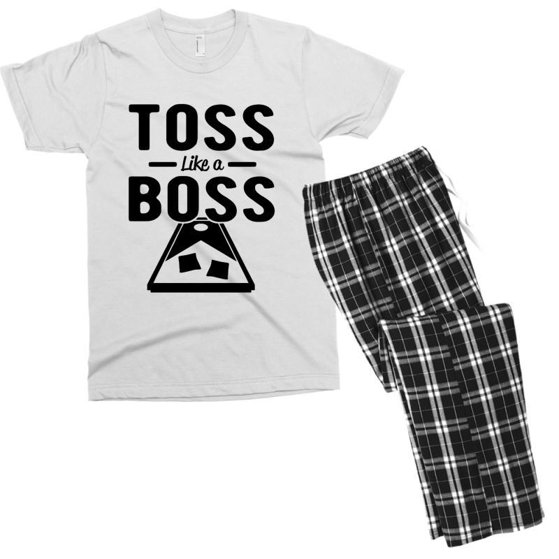 Toss Like A Boss Cornhole Men's T-shirt Pajama Set | Artistshot
