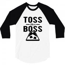 toss like a boss cornhole 3/4 Sleeve Shirt | Artistshot