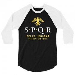spqr   roman empire army 3/4 Sleeve Shirt   Artistshot