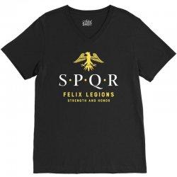 spqr   roman empire army V-Neck Tee   Artistshot