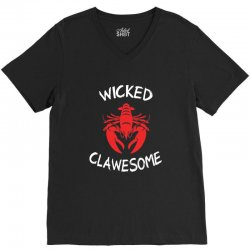 wicked clawesome lobster V-Neck Tee   Artistshot
