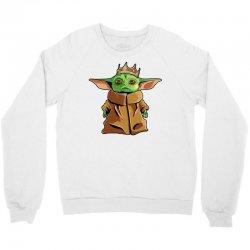 the mandalorian baby yoda funny king gildan Crewneck Sweatshirt | Artistshot
