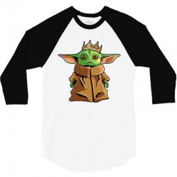 the mandalorian baby yoda funny king gildan 3/4 Sleeve Shirt | Artistshot