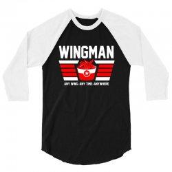 wingman buffalo chicken wing lover 3/4 Sleeve Shirt | Artistshot