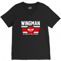wingman buffalo chicken wing lover V-Neck Tee | Artistshot