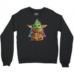 the mandalorian baby yoda king gildan Crewneck Sweatshirt | Artistshot