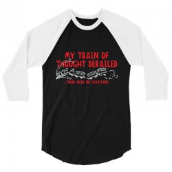 my train of thought derailed 3/4 Sleeve Shirt | Artistshot