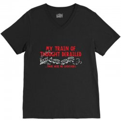 my train of thought derailed V-Neck Tee | Artistshot