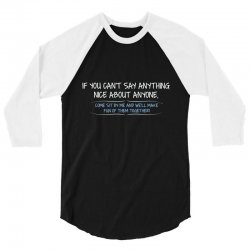nice anyone 3/4 Sleeve Shirt | Artistshot